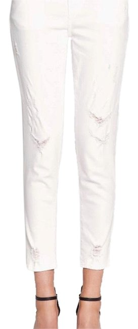 Item - White Mid-rise Sadey Ripped Slim Ankle Straight Leg Jeans Size 0 (XS, 25)