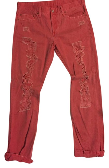 Item - Red Distressed 501 Straight Leg Jeans Size 8 (M, 29, 30)