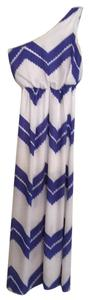 Blue and White Maxi Dress by Jodi Kristopher