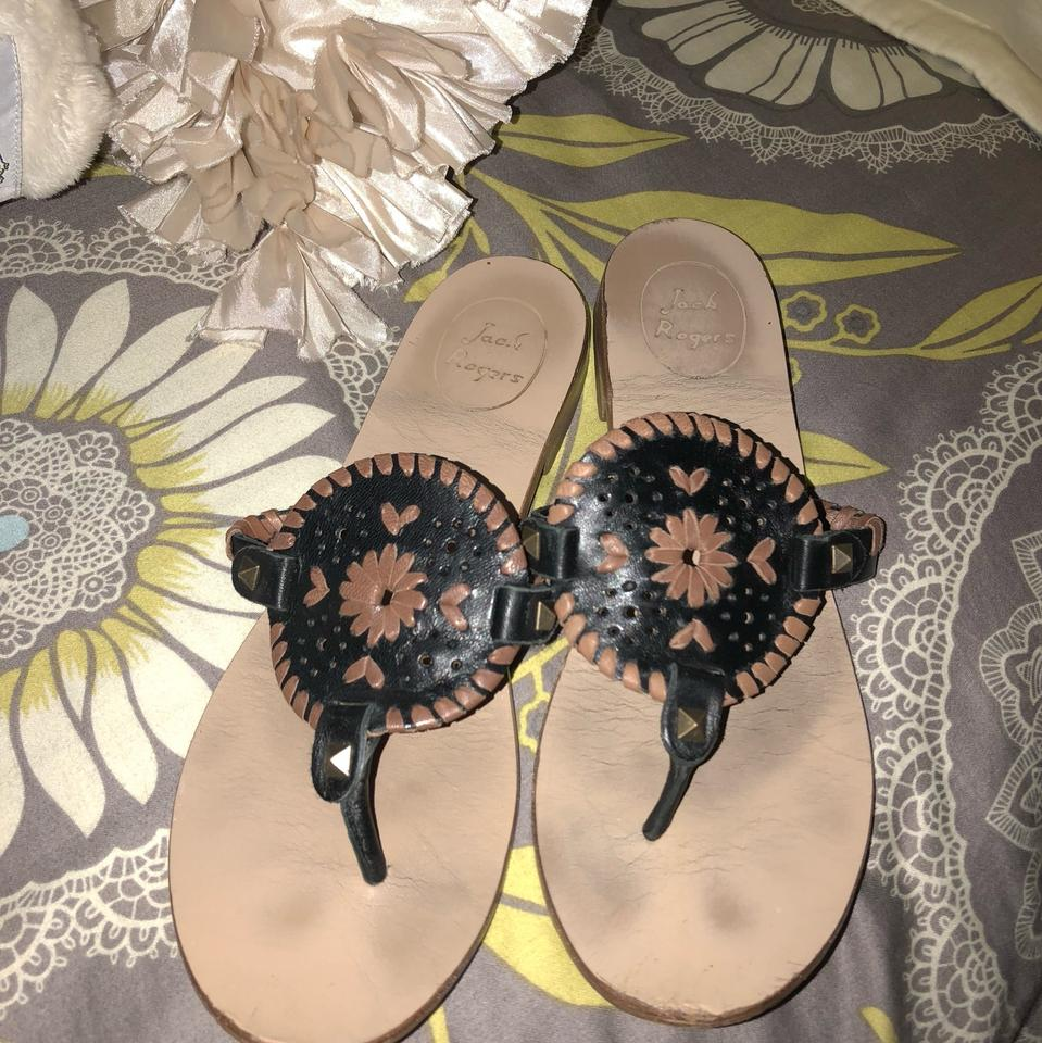 Jack Rogers Black & And Brown Georgica And & Sandals ee0d01