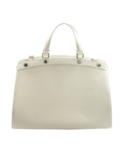 Louis Vuitton Leather Satchel in White