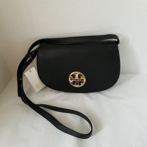 Tory Burch Black/Gold Messenger Bag