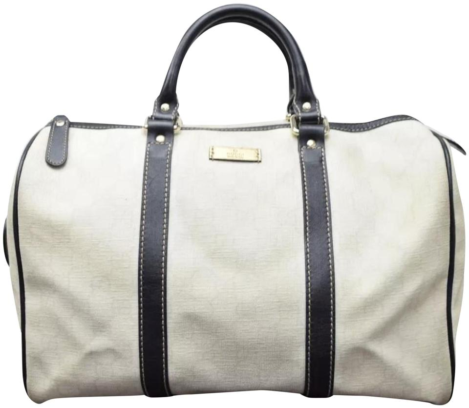 6b831dc2380b Gucci Boston Exclusive Limited Edition Supreme Gg Large White/Black Leather  Satchel