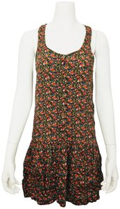 Forever 21 short dress Multi Color F21 Sundress Dropped Waist Racer Back Floral Print on Tradesy