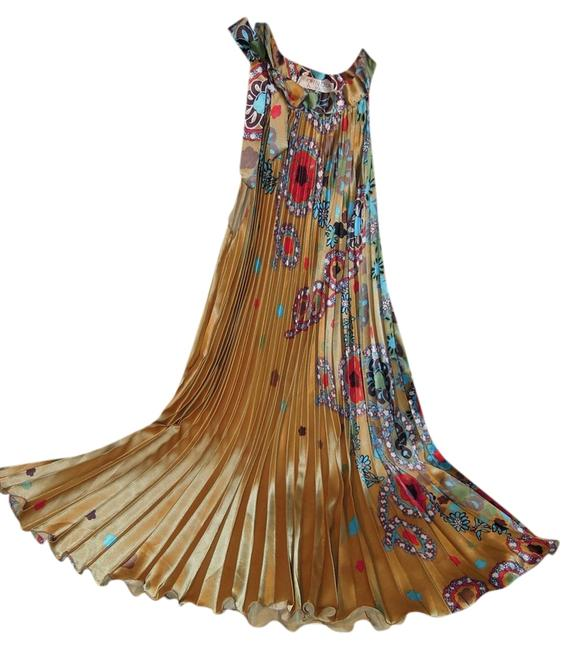 Preload https://item2.tradesy.com/images/india-boutique-gold-with-muti-colored-floral-pleated-long-casual-maxi-dress-size-6-s-2342266-0-0.jpg?width=400&height=650