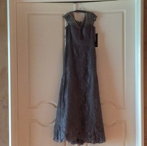 Mon Cheri Smoke Colored Evening Gown Formal Bridesmaid/Mob Dress Size 14 (L)