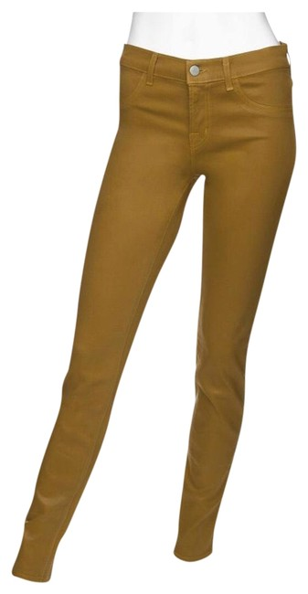 Item - Yellow Coated 801o241e Skinny Jeans Size 4 (S, 27)