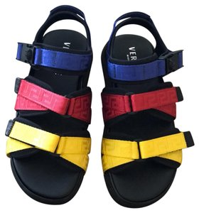 Versace red black blue yellow Sandals