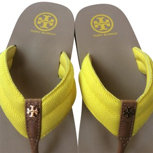 Tory Burch Tan and Yellow Sandals