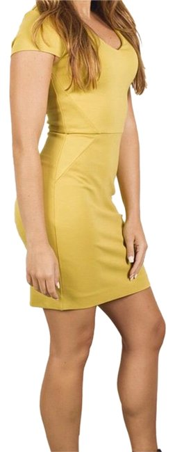 Item - Yellow / Burnt Sun Lula Stretch Capped Sleeve By Short Cocktail Dress Size 2 (XS)