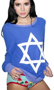 Wildfox Star Of David Baggy Beach Jumper Couture Sweater