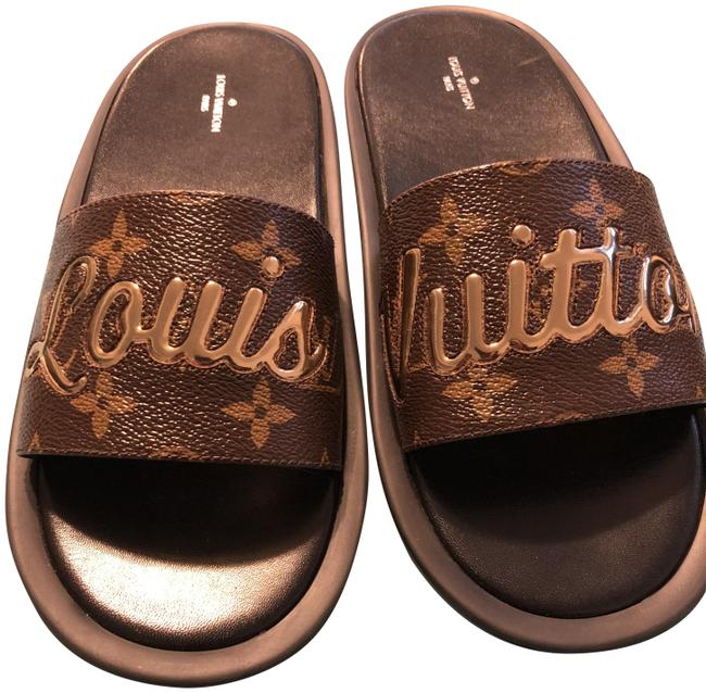 Item - Brown and Gold Mules/Slides Size EU 39 (Approx. US 9) Regular (M, B)