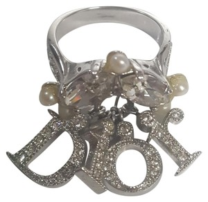 Dior Dior Sterling silver and sworsky ring. Size 6.5 pair it with necklaces and earnings in my closet.