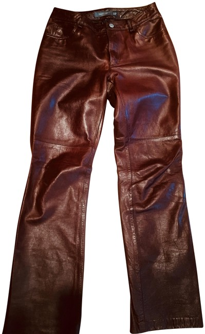 Item - Burgundy Brown and Olive Green Coated Fall 2000 Boot Cut Jeans Size 27 (4, S)