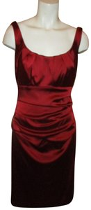 Suzi Chin for Maggy Boutique Satin Rushed Dress