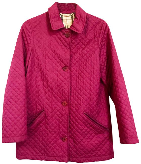 Item - Fuschia Quilted with Nova Check Lining Jacket Size 12 (L)