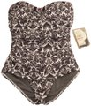 Tommy Bahama NWT Tommy Bahama Vintage Print Black & White One-Piece Swimsuit, 6