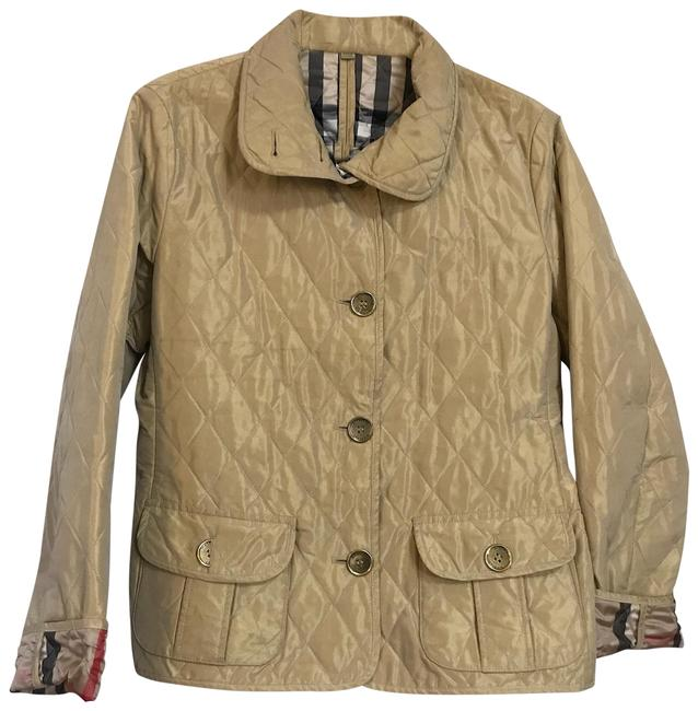 Item - Metallic Tan Shimmery Quilted Jacket Size 12 (L)