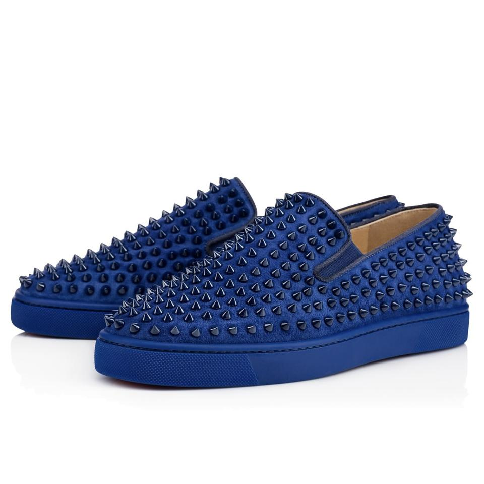 brand new b7977 4a307 Christian Louboutin Blue Roller-boat Men's Flat Us7 Sneakers Size EU 40  (Approx. US 10) Regular (M, B)