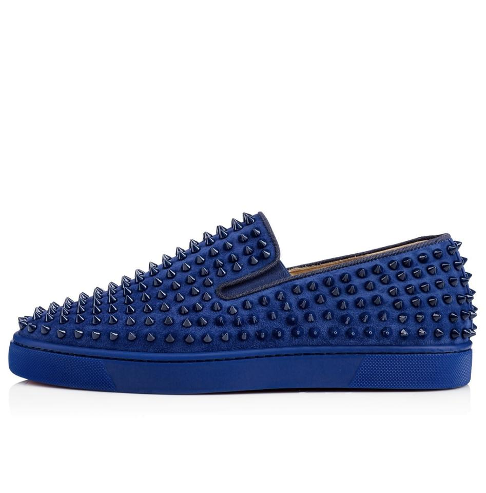 5d8a582c8bc Christian Louboutin Blue Roller-boat Men s Flat Us7 Sneakers Size EU ...