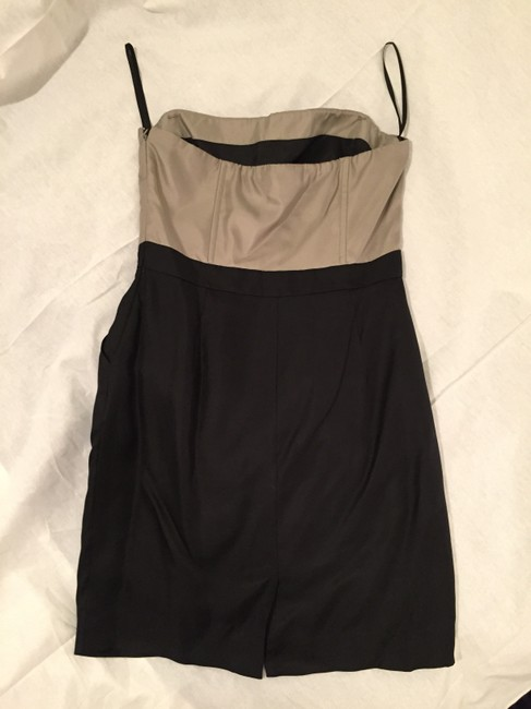Banana Republic With Pockets Pockets Two Tone Cocktail Mini Silk Dress