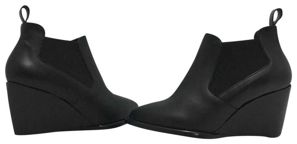 02197324a2f Robert Clergerie Black Leather Olav Women s Wedge High Heel Ankle Boots  Booties
