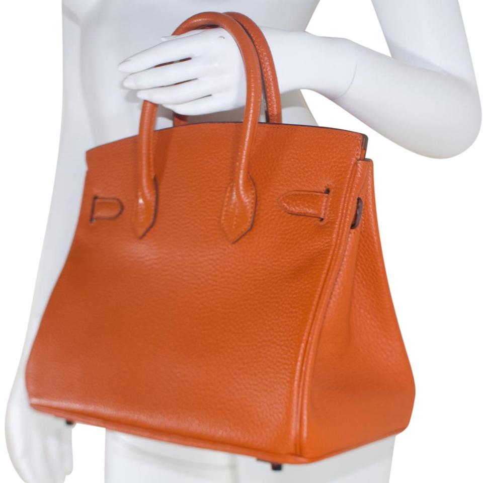 2ebd126068f Hermès Birkin 30 Rare Signature Epsom Palladium Orange Leather Satchel -  Tradesy