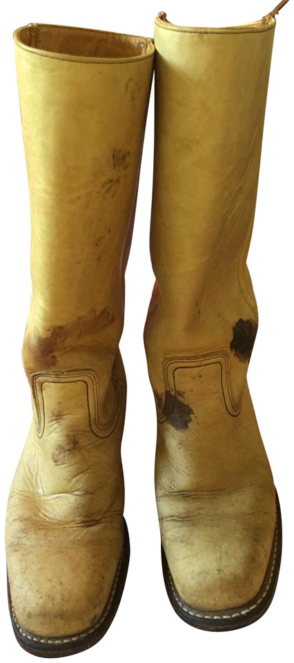 7cc09657f6f2c Tan Leather Boots/Booties