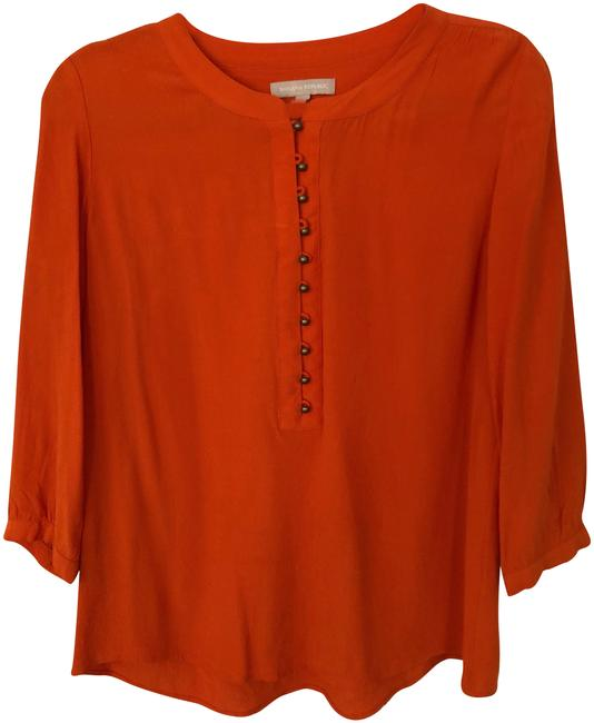 Preload https://img-static.tradesy.com/item/23424425/banana-republic-orange-vibrant-34-sleeve-blouse-size-6-s-0-1-650-650.jpg