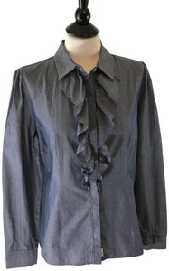 Tommy Hilfiger Country Casual All Occassion Button Down Shirt Blue Denim
