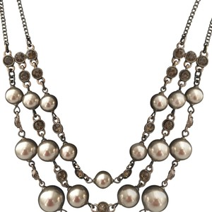 Givenchy GIVENCHY Mocha Pearls And Swarovski Crystal Bronze Necklace