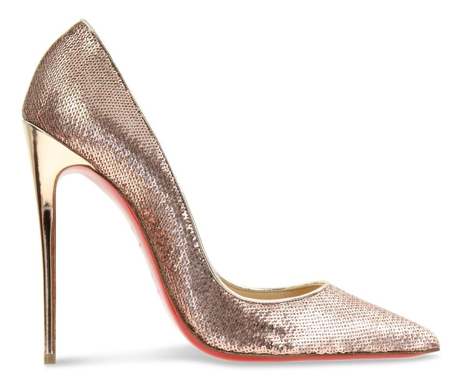 f74e14596de0 Christian Louboutin Gold So Kate 120 Pink Sirene Sequin Heel Pumps ...