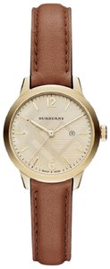 Burberry Tan Women's Swiss Leather Strap Timepiece 32mm Bu10101 Watch