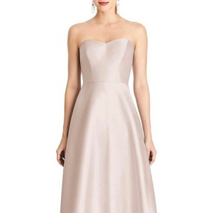 Alfred Sung Blush Polyester Strapless Sateen Gown Formal Bridesmaid/Mob Dress Size Petite 0 (XXS)