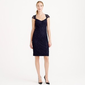 J.Crew Navy Lace Tinsley Formal Bridesmaid/Mob Dress Size 00 (XXS)