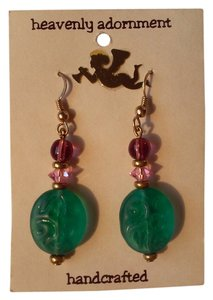 Handmade Beaded French Hook Pierced Dangle Drop Earrings