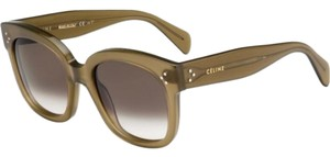 Céline NEW Celine CL41805/S New Audrey Olive Green Sunglasses