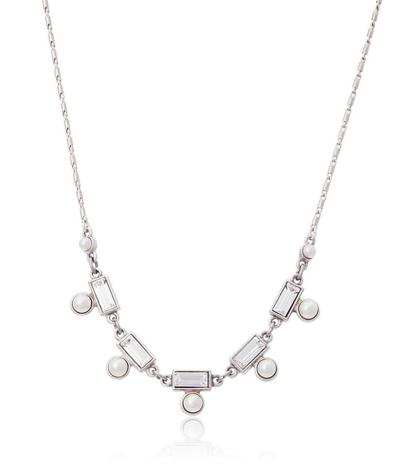 Ben-Amun Clear Petite Melody Crystal and Pearl Necklace ...