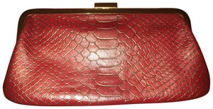Hobo International Leather Patterned Soft And Chic Garnet Clutch