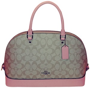 Coach Satchel in Khaki and Blush Pink