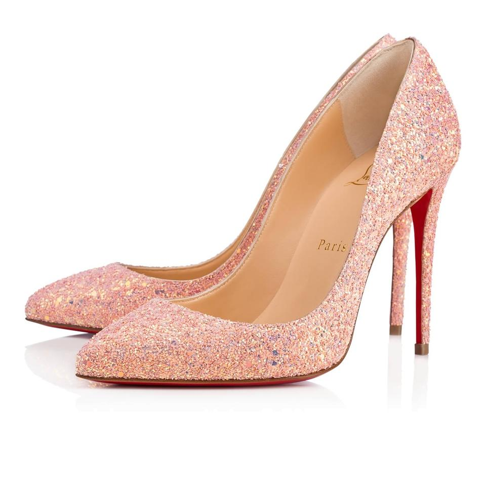2c8a28c4a40 Christian Louboutin Pigalle Stiletto Follies Classic Glitter pink Pumps  Image 0 ...