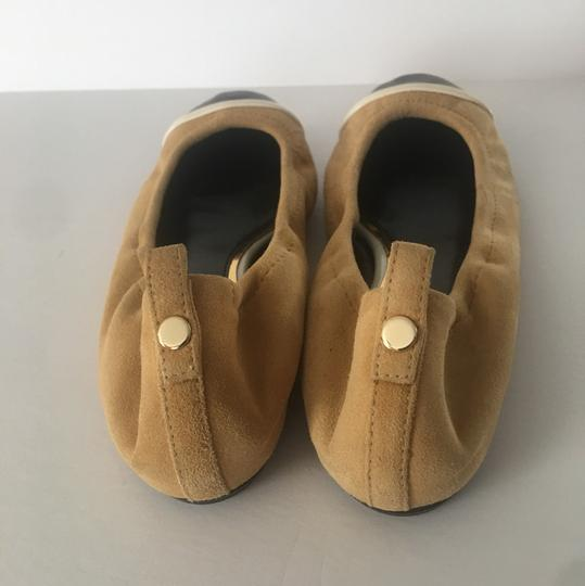 LANVIN NWT suede w/ leather tips ballerina shoes mustard and black Flats Image 1