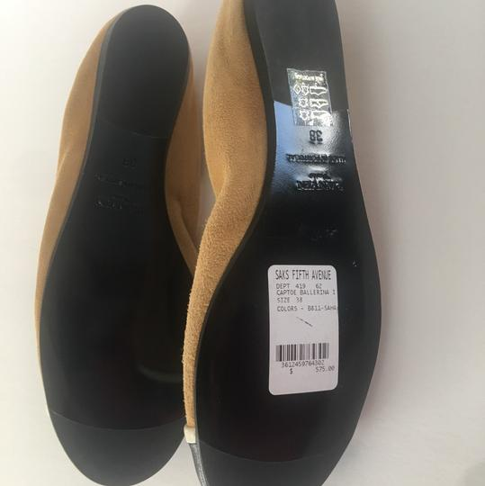 LANVIN NWT suede w/ leather tips ballerina shoes mustard and black Flats Image 2