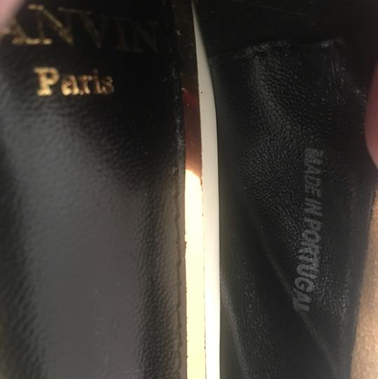 LANVIN NWT suede w/ leather tips ballerina shoes mustard and black Flats Image 4