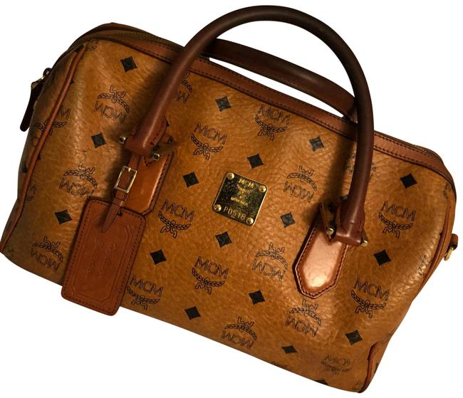 Item - Boston Bag Cognac Leather Satchel