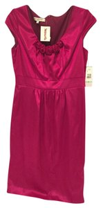 Evan Picone Rosettes Plum Dress