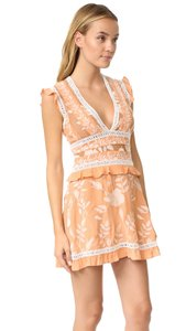 For Love & Lemons short dress Peach Embroidered Lace Summer on Tradesy