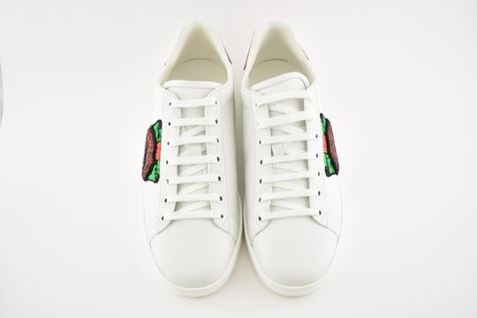 ff37d308563d2 Gucci White Ace Leather Red Green Glitter Lips Low Top Lace Up ...