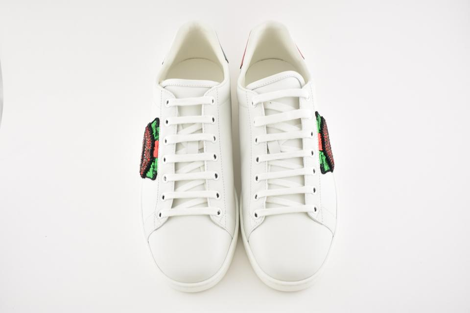 b8250d5392c2a Gucci White Ace Leather Red Green Glitter Lips Low Top Lace Up Sneakers  Sneakers Size EU 42 (Approx. US 12) Regular (M