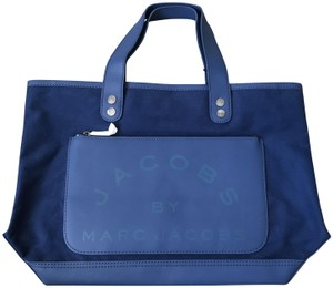 Marc by Marc Jacobs Canvas Tote in Navy Blue